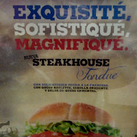 Nueva hamburguesa SteakHouse Fondue